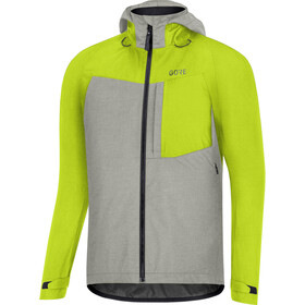 GORE WEAR C5 Gore-Tex Trail Hooded Jacket Men citrus green/terra grey